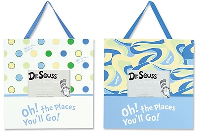 Trend Lab Dr. Seuss Oh, the Places You''ll Go! 2 Piece Picture Frame Set; Blue