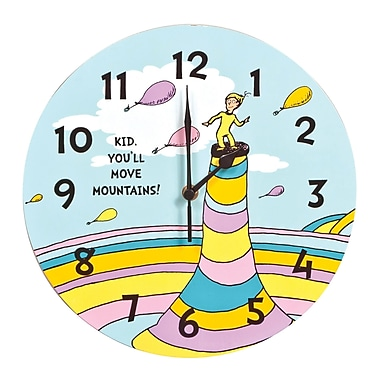 Trend Lab Dr. Seuss Oh The Places You'll Go! 11'' Wall Clock
