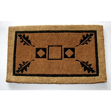 Geo Crafts Leaf Doormat; Rectangle 2'6'' x 4'