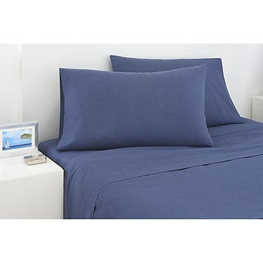 IZOD 225 Thread Count Cross Dyed Sheet Set; Twin