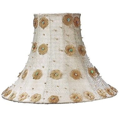 Jubilee Collection Petal Flower 16'' Silk Bell Lamp Shade