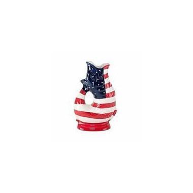 Wade Ceramics Gluggle Jugs USA Flag Pitcher; 10'' H x 3.8'' W x 5.8'' D
