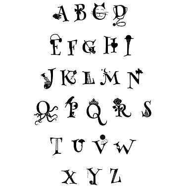 Dana Decals Animated Alphabet Small Wall Decal