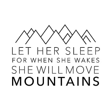 Dana Decals Let Her Sleep Quote Small Wall Decal