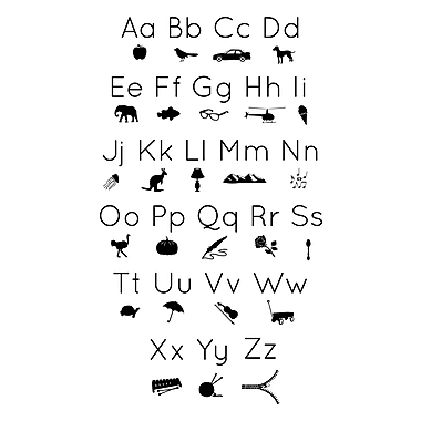 Dana Decals Icon Alphabet Wall Decal