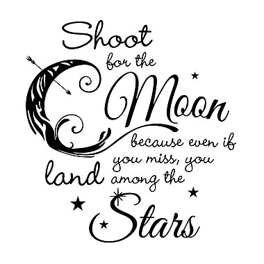 Dana Decals Shoot For The Moon and Land Among The Star Wall Decal