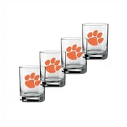 Kraftware Collegiate 14 Oz Clemson Glass (Set of 4)
