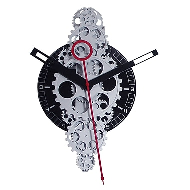 Maples Clock 20'' x 11'' Large Moving Gear Wall Clock