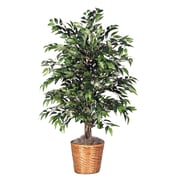 Vickerman Deluxe 48'' Artificial Potted Smilax Tree in Dark Green