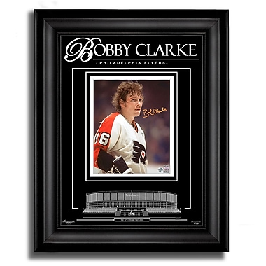Bobby Clarke Philadelphia Flyers Signed 8X10 Photo Archival Etched Glass™ Ltd/99
