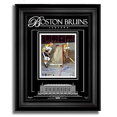 Archival Etched GlassMC – Photo 8 x 10 dédicacée de Bobby Orr et Gerry Cheevers des Boston Bruins, édition limitée : 99 pièces