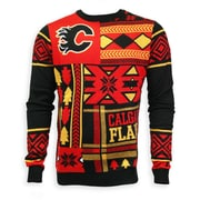 Calgary Flames Men'S Patchwork Crew Sweater