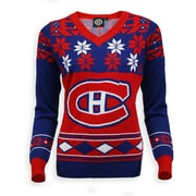Montreal Canadiens Lady's V-Neck Sweater, Medium