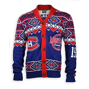 Montreal Canadiens Men's Cardigan Sweater, Large