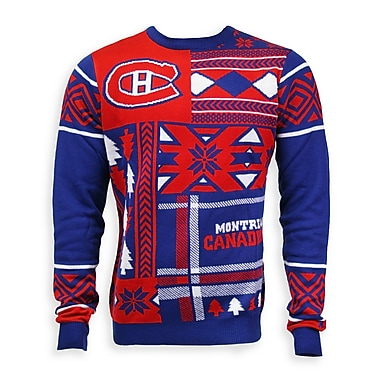 Montreal Canadiens Men'S Patchwork Crew Sweater