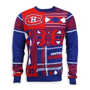 Montreal Canadiens Men's Patchwork Crew Sweater, Medium