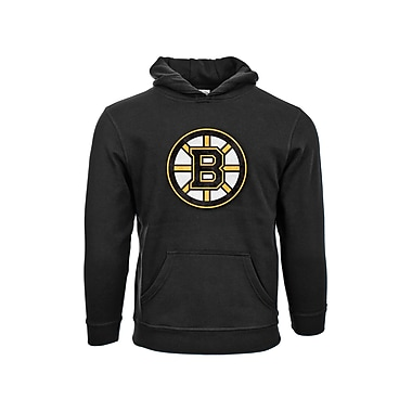 NHL Boston Bruins Suede Crest Youth Hoodie, Small