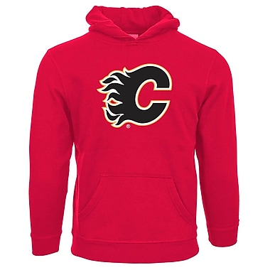 NHL Calgary Flames Suede Crest Youth Hoodie, Medium