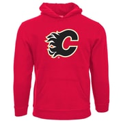 NHL Calgary Flames Suede Crest Youth Hoodie