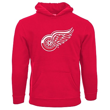 NHL Detroit Red Wings Suede Crest Youth Hoodie, Small