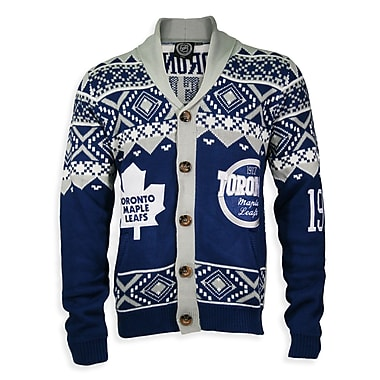 Toronto Maple Leafs Men's Cardigan Sweater, X Large