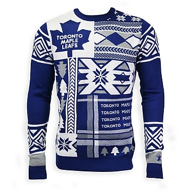 Toronto Maple Leafs Men's Patchwork Crew Sweater, Large