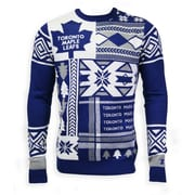 Toronto Maple Leafs Men's Patchwork Crew Sweater, 2X Large