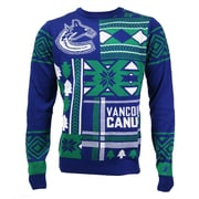 Vancouver Canucks Men's Patchwork Crew Sweater, Large