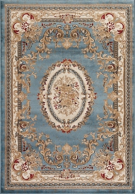 Persian-rugs Traditional Blue Area Rug; Rectangle 5'2'' x 7'2''