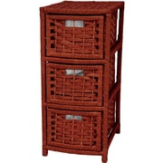 Oriental Furniture 3-Drawer Storage Chest; Mahogany