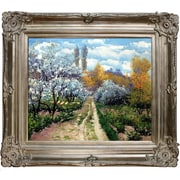 Tori Home Trees in Bloom by Claude Monet Framed Painting Print