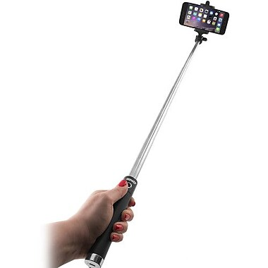 iBower® Wireless TRENDi Selfie Stick (Black) (IBO-BTM36B)