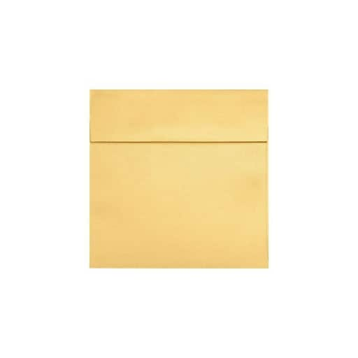 "LUX® 8 1/2"" x 8 1/2"" Square Envelopes, Gold Metallic, 250/PK (8575-07-250)"