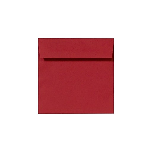 """LUX® 8"""" x 8"""" Square Envelopes, Ruby Red, 1000/PK (LUX-8565-18-1M)"""