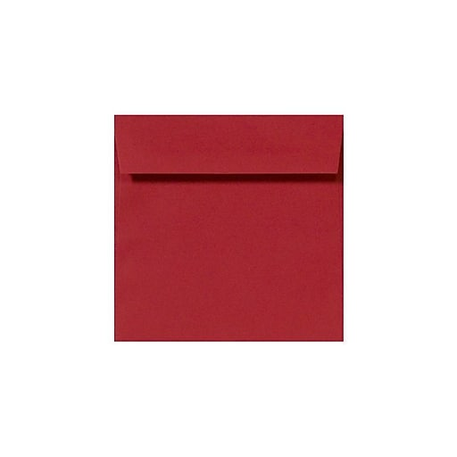 LUX 9 x 9 Square Envelopes 250/Box) 50/Box, Ruby Red (LUX-8585-18-50)