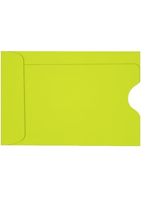 """""LUX Credit Card Sleeve, 2 3/8""""""""H x 3 1/2""""""""W, Wasabi Green, 250/Pack"""""" 1985173"