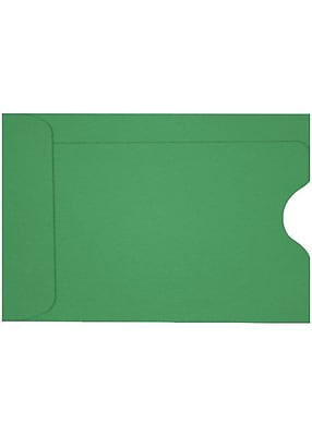 LUX Credit Card Sleeve (2 3/8 x 3 1/2) 50/Box, Holiday Green (LUX-1801-L17-50)
