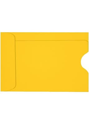 LUX Credit Card Sleeve (2 3/8 x 3 1/2) 250/Box, Sunflower (LUX-1801-12-250)