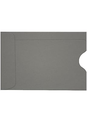 LUX Credit Card Sleeve (2 3/8 x 3 1/2) 500/Box, Smoke (LUX-1801-22-500)