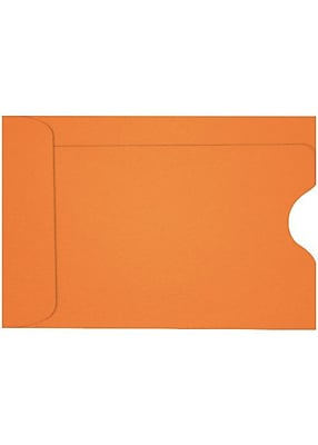 LUX Credit Card Sleeve (2 3/8 x 3 1/2) 500/Box, Mandarin (LUX-1801-11-500)