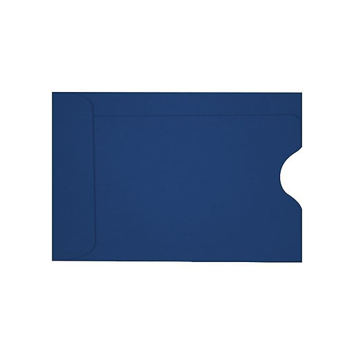 LUX Credit Card Sleeve (2 3/8 x 3 1/2) 50/Box, Navy (LUX-1801-103-50)