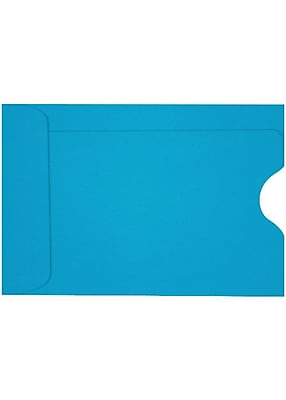 LUX Credit Card Sleeve (2 3/8 x 3 1/2) 50/Box, Pool (LUX-1801-102-50)