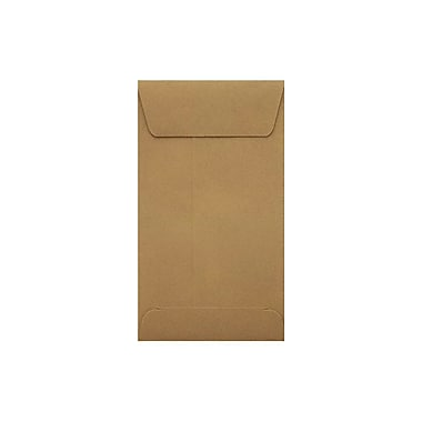 LUX Peel & Press #5 1/2 Coin Envelopes (3 1/8 x 5 1/2) 500/Pack, Grocery Bag Brown (512CO-GB-500)