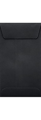 LUX #5 1/2 Coin Envelopes (3 1/8 x 5 1/2) 50/Box, Midnight Black (LUX-512CO-B-50)