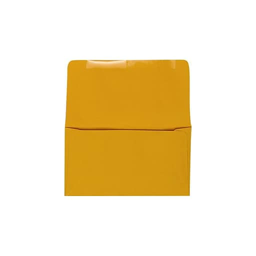 """LUX® 6 3/4"""" Remittance, Donation Envelopes, 3 5/8"""" x 6 1/2"""" Closed, Goldenrod, 500/PK (R0264-500)"""