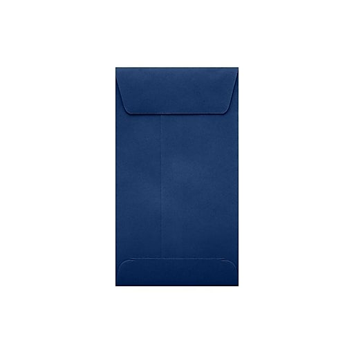 "LUX® #5 1/2 Coin Envelopes with Peel and Seal; 3 1/8""H x 5 1/2""W, Navy Blue, 500Pk (512CO-103-500)"