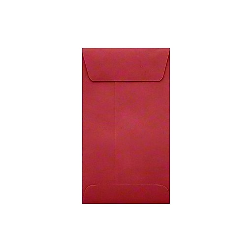 "LUX® #5-1/2 Coin Envelopes with Peel and Seel; 3-1/8"" x 5-1/2"", Ruby Red, 500ct (512CO-18-500)"