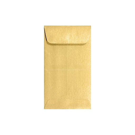 LUX #5 1/2 Coin Envelopes (3 1/8 x 5 1/2) 50/Box, Gold Metallic (512CO-07-50)