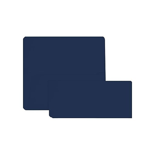 LUX Airline Ticket (3 7/8 x 8 1/2) 500/Box, Navy (AIR378-103-500)