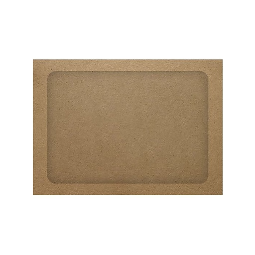 LUX® A7 Full Face Window Envelopes, Grocery Bag Brown, 1000/Pack (A7FFW-GB-1M)